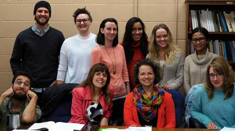 Dr. Marta Vicente and WGSS 801 Feminist Theory students, Fall 2016