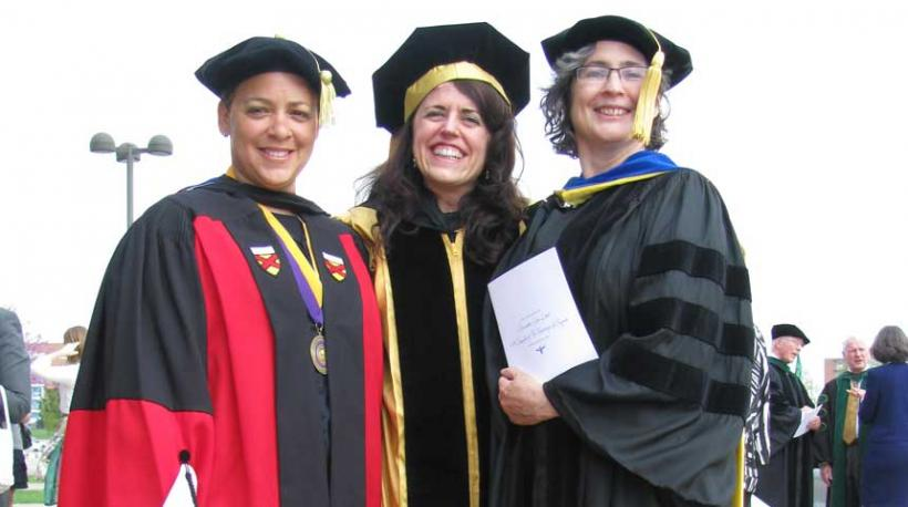 WGSS Faculty members at Installation of Chancellor Bernadette Gray-Little