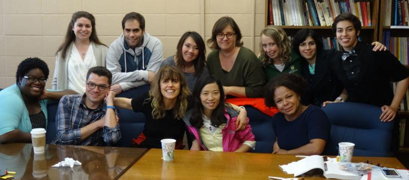 "Associate Professor Marta Vicente and her WGSS 801 ""Feminist Theory"" class, Fall 2015"